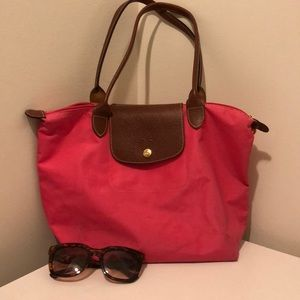 """Small Le Pliage"" Longchamp Tote"